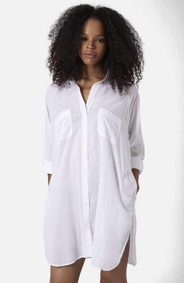 4ef8a2dbcd Button Front Beach Shirt Cover-Up White Shirts, Tunic Tops, Shirt Dress,