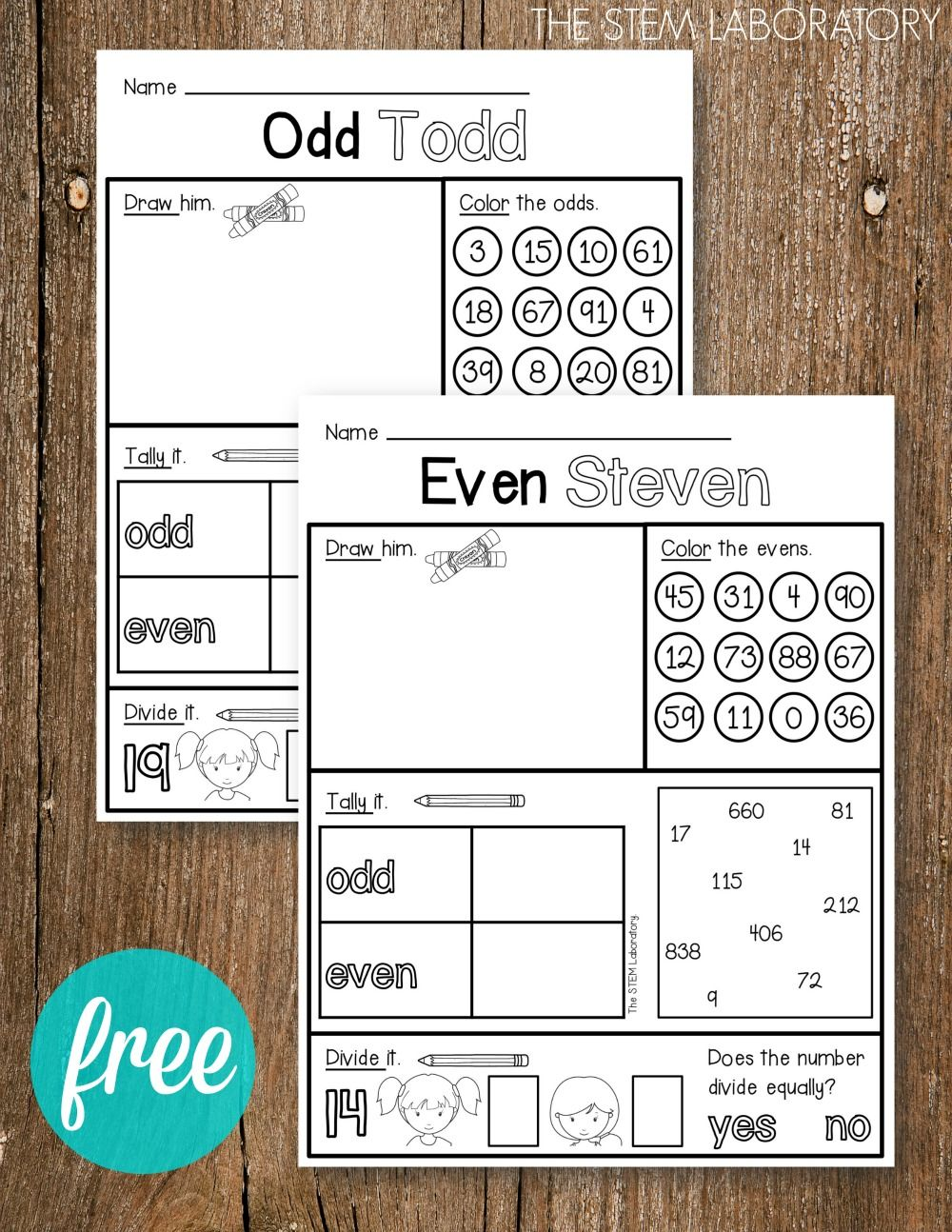 Odd and Even Activity Sheets | Activities, Math and Teaching kids