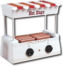 Hot Dog Roller Bun Warmer Nostalgia Adjustable Heat Machine Cooker Grill Retro