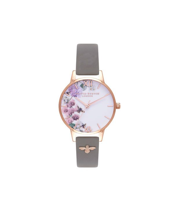 8010914fd26c8 Ladies Enchanted Garden Grey   Rose Gold Watch