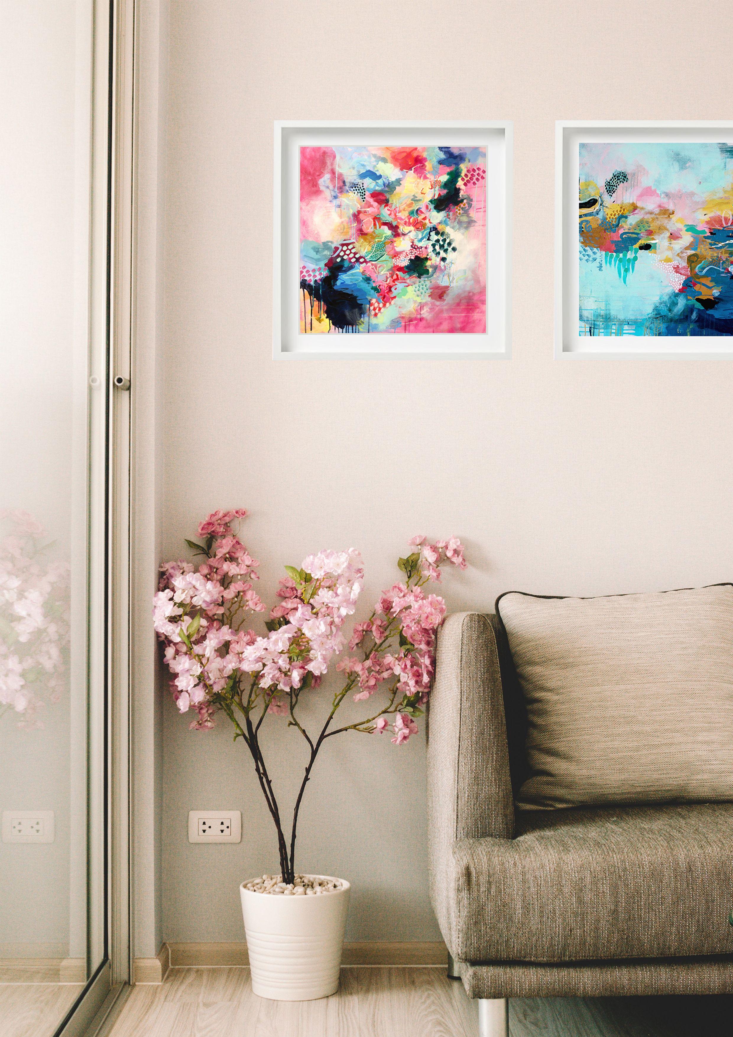 'Seeking Sunset' and 'Finding Life's Joy' Fine Art Prints - Neutral Interior Insp  #interiorinspo #abstractart #colourinspo #jessicaslackstudio