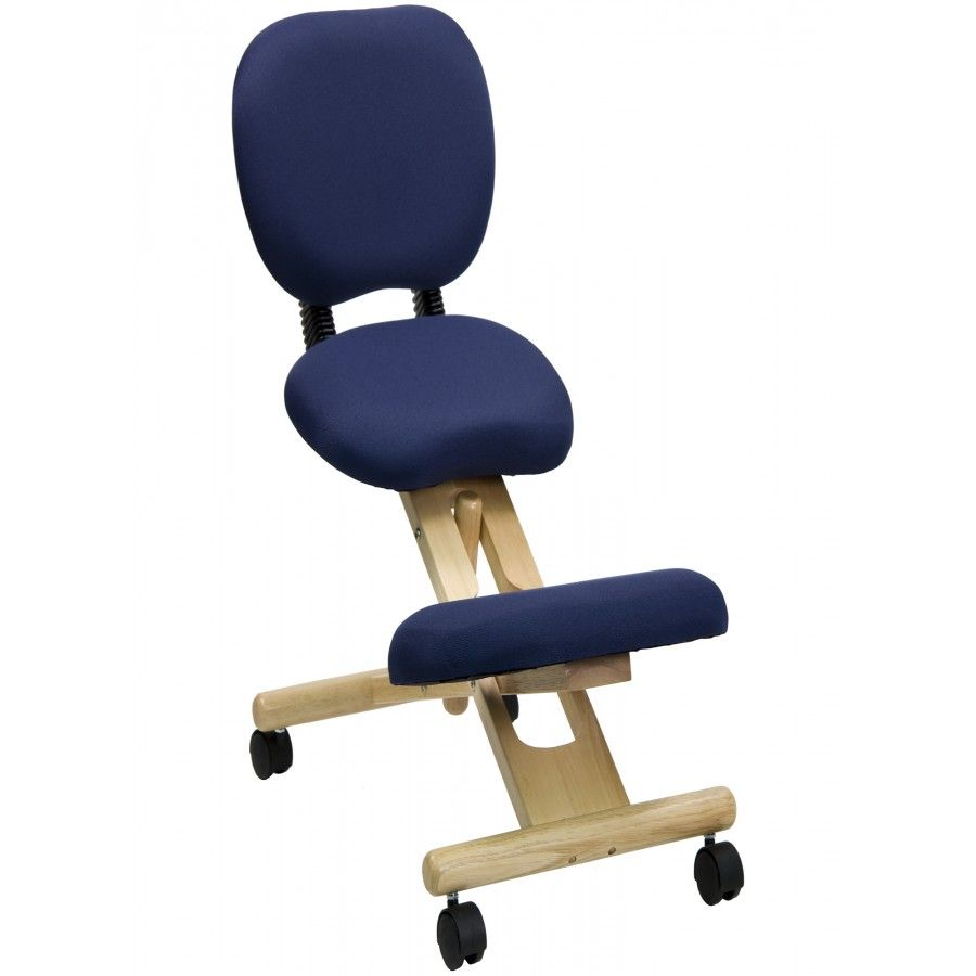 Flash Furniture Low Back Height Adjustable Kneeling Chair With Dual Wheel Fabric Navy Blue Wlsb310 Kneeling Chair Ergonomic Kneeling Chair Office Chair