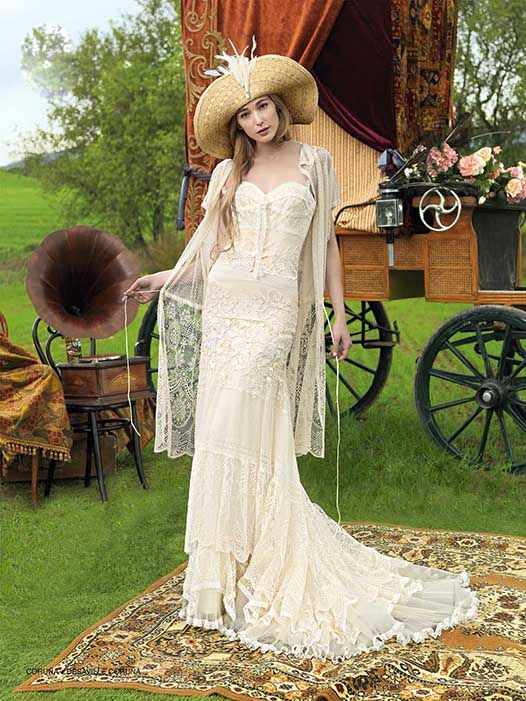 Boho Wedding Dress Nyc : Wedding dress bohemian bride weddings glamorous