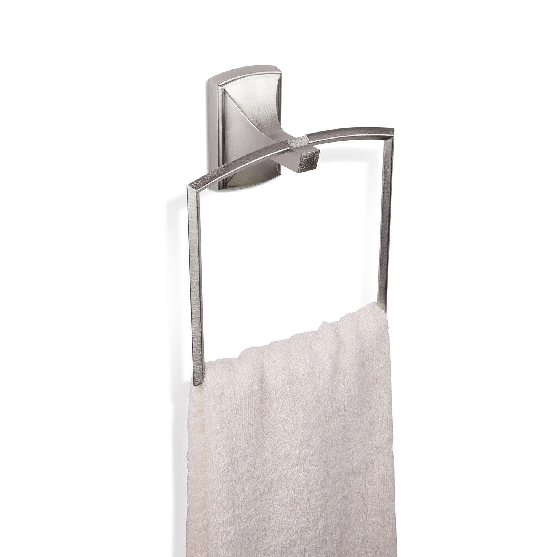 Savoy Towel Ring In Nickel Design By Umbra
