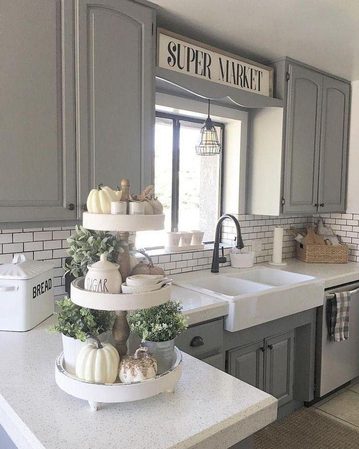 40 pretty farmhouse kitchen makeover design ideas on a budget 36   lingoistica.com