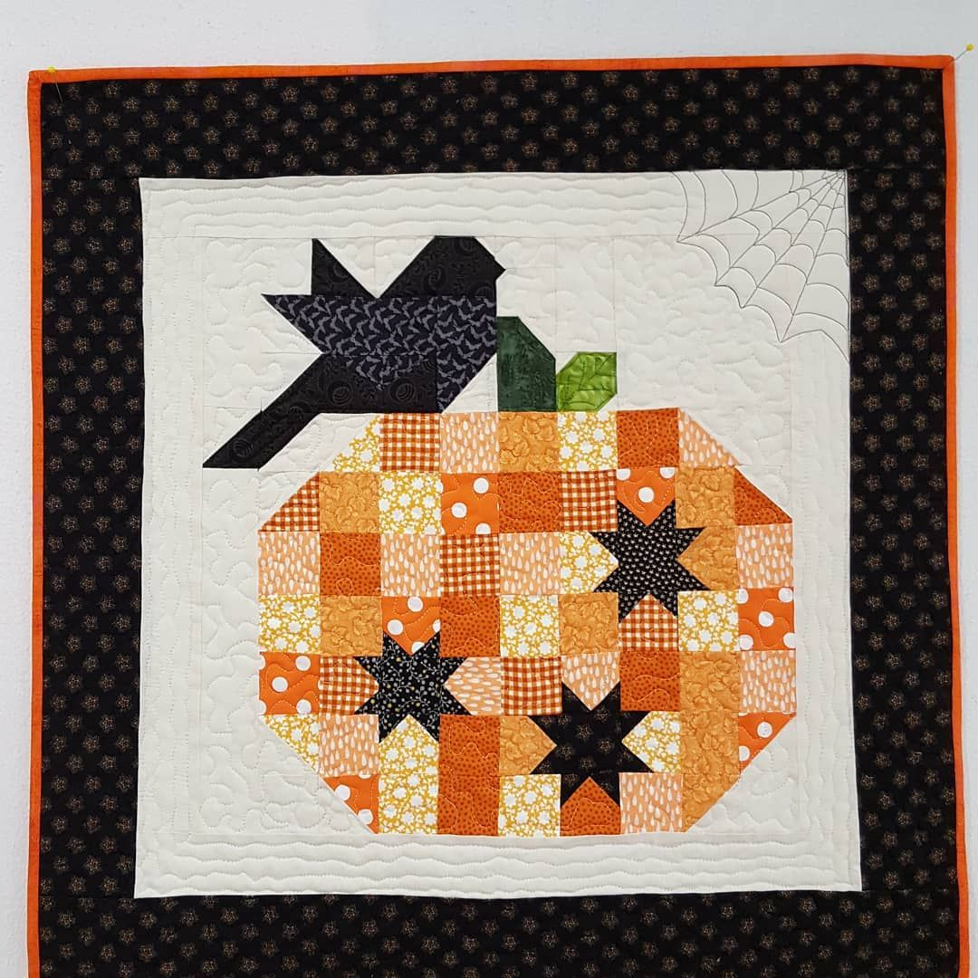Pumpkin Season Pattern By Margot Languedoc Designs The Pattern Basket Loved Making This 25 X 25 In W Halloween Quilt Patterns Fall Quilt Patterns Fall Quilts