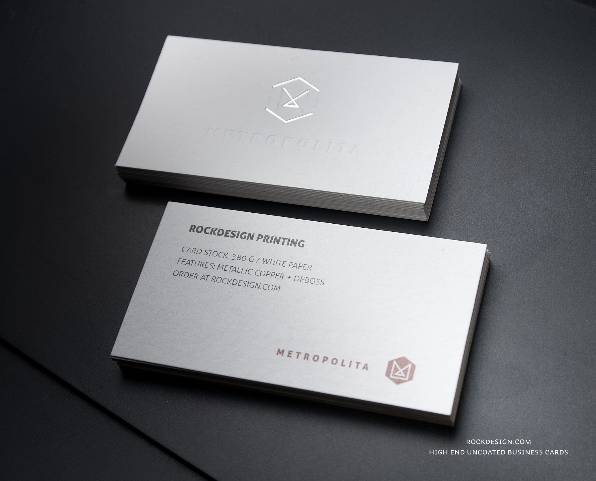 RockDesign.com | High End Business Cards | Premium White Uncoated ...