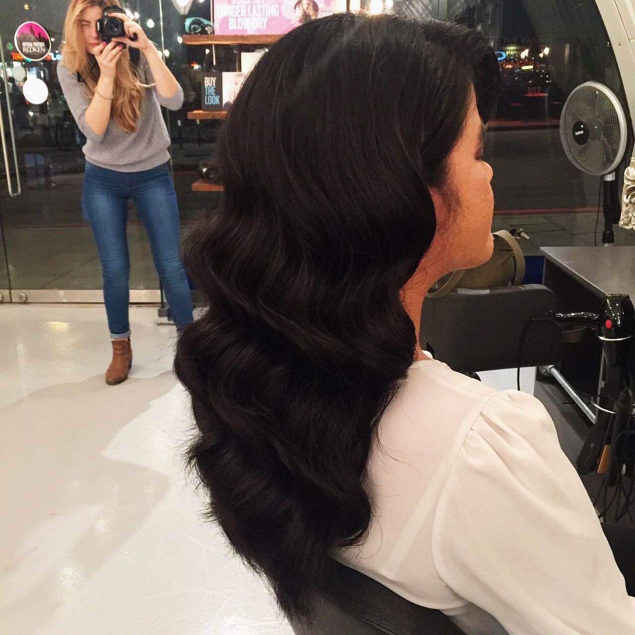 Wavy Blow Dry On Long Dark Hair London Hairdresser For More Hairstyles And Our List Of Hair Services Visit W London Hair Salon Best Hair Salon Long Dark Hair