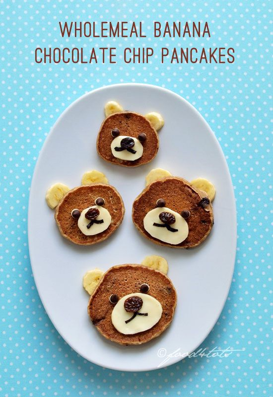 Sneak in some wholemeal under cute bear faces. | 18 Ways To Make Pancake Day Fun For Your Kids