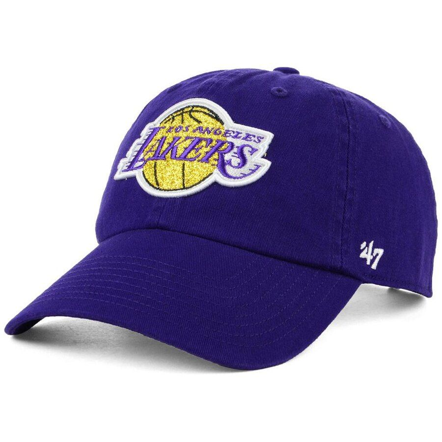 low cost differently wholesale online Women's Los Angeles Lakers '47 Purple Glitter Clean-Up Adjustable ...