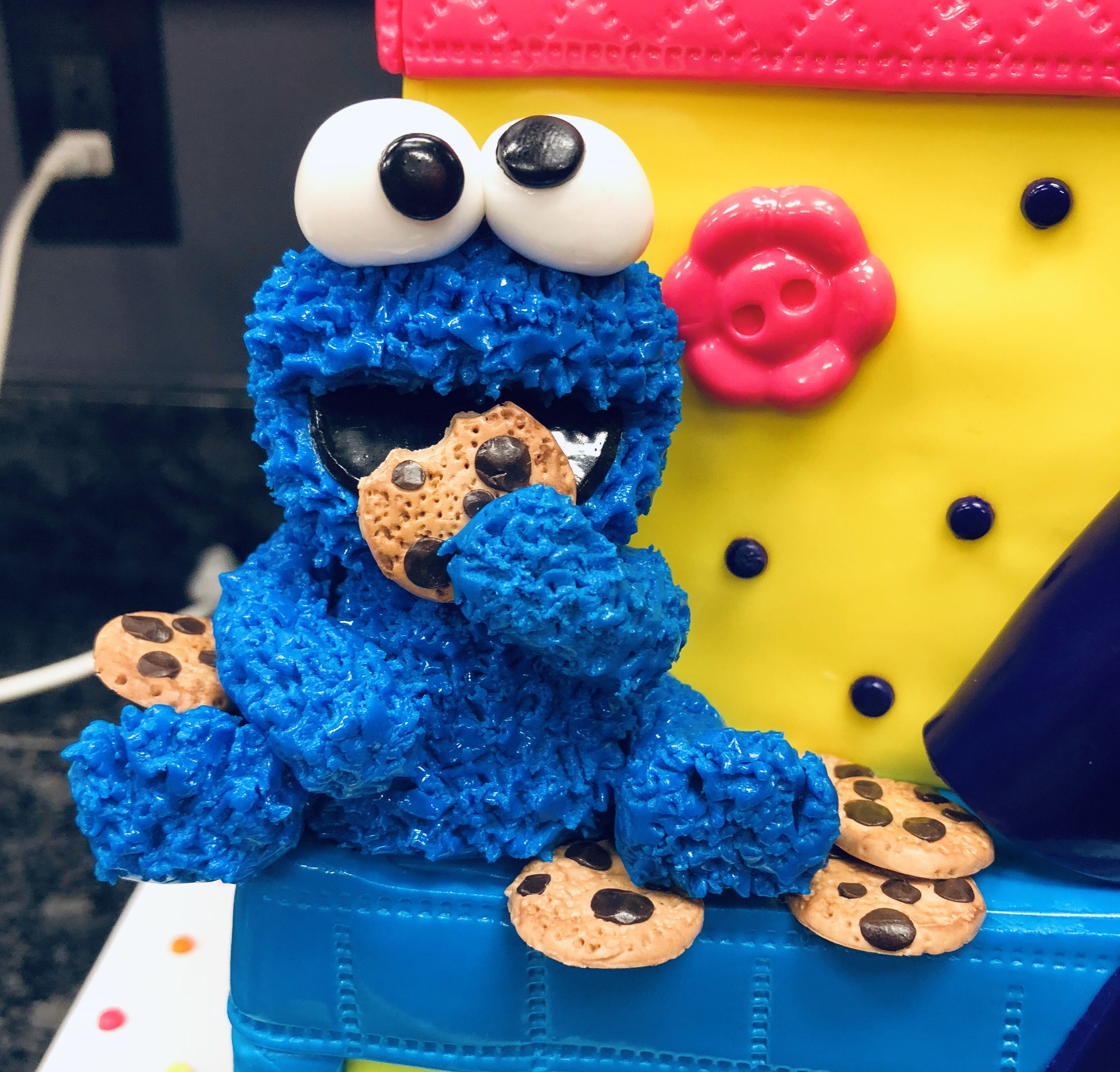 Cookie monster cake topper fondant cake toppers monster