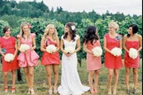 Bridesmaid dress colours.