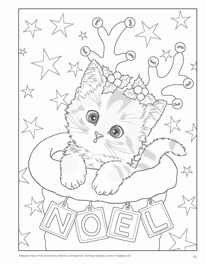 Winter Cats Coloring Pages for Kids in 2020 Kitty