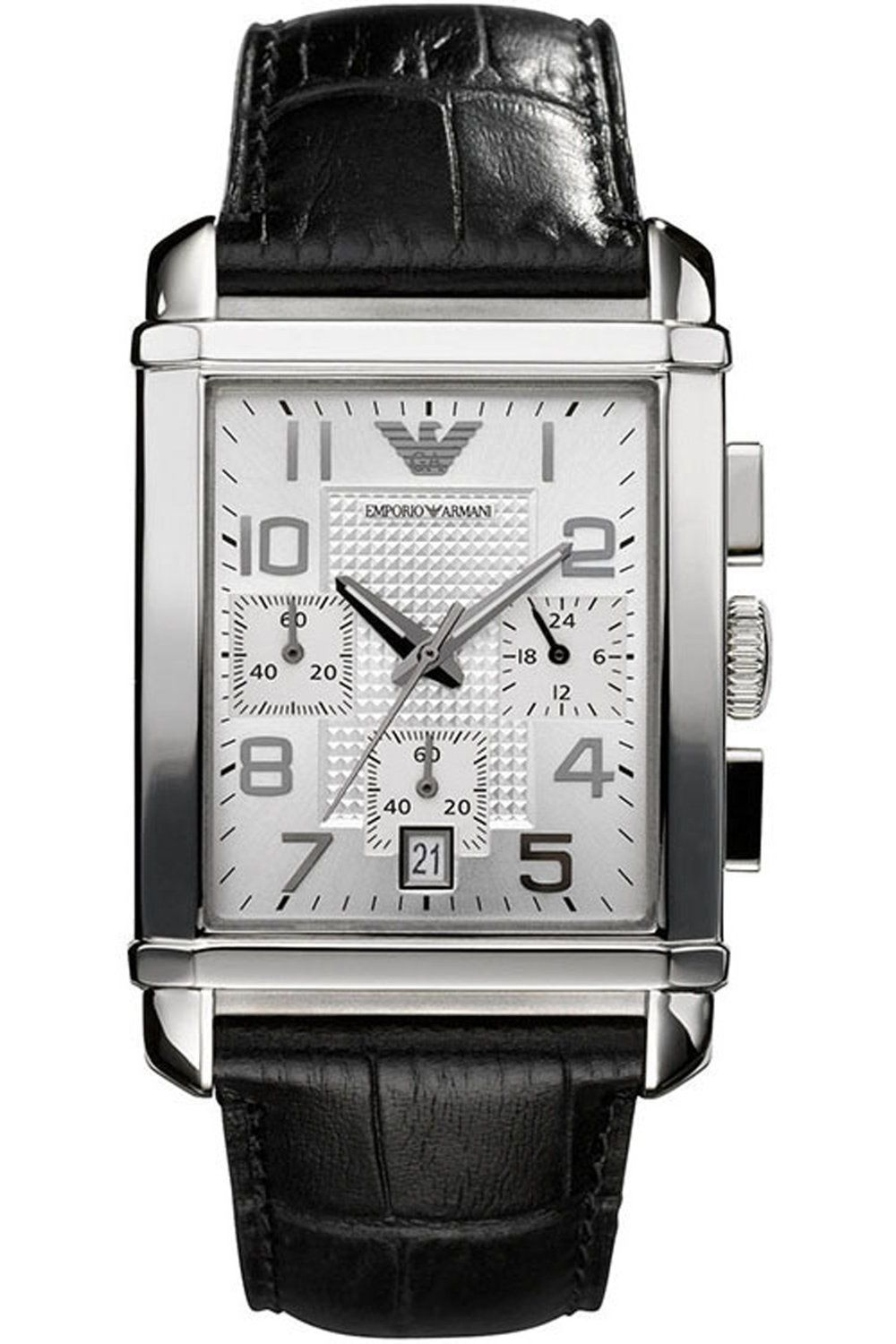 ffd4b4c248dd Emporio Armani Men s AR0333 Classic Silver Chronograph Dial Watch  Watches   Amazon.com