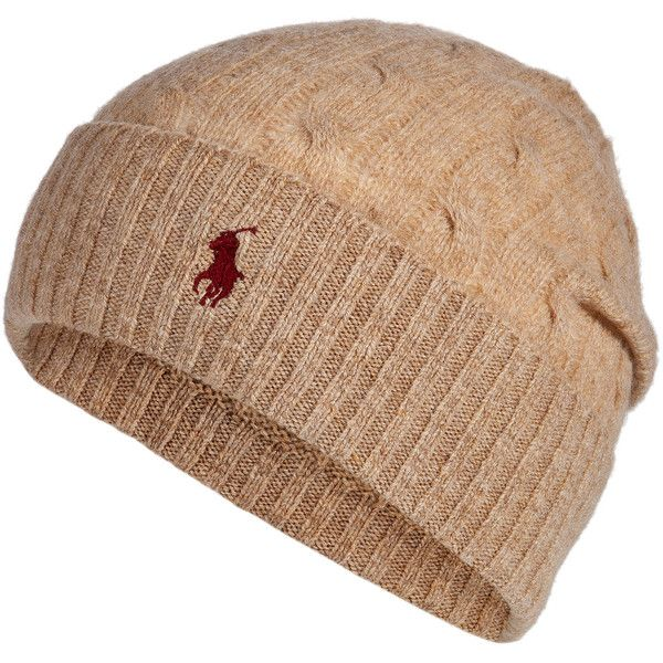 2643cd4c89a5a Polo Ralph Lauren - Merino Wool-Cashmere Cable Knit Hat ( 52) ❤ liked