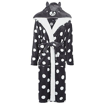 Cat Ear Dressing Gown | Women | George at ASDA | Dotty Polka With ...