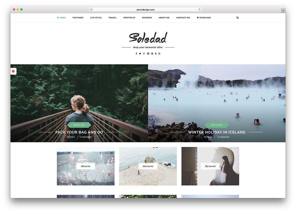 soledad-masonry-style-blog-wordpress-theme | Design Stuff | Pinterest