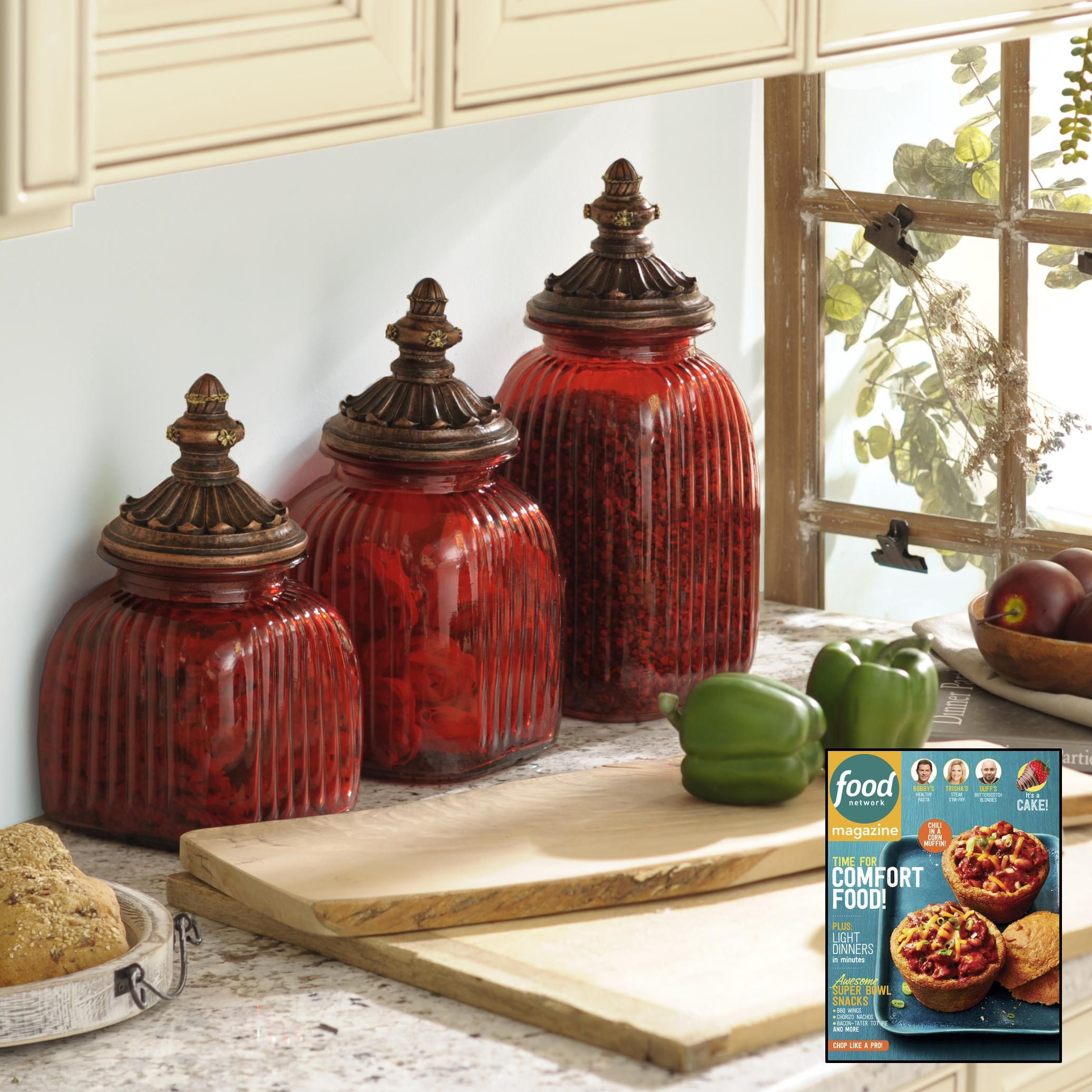 Red Kitchen Accessories White Appliances Decor Loved By Food Network Magazine