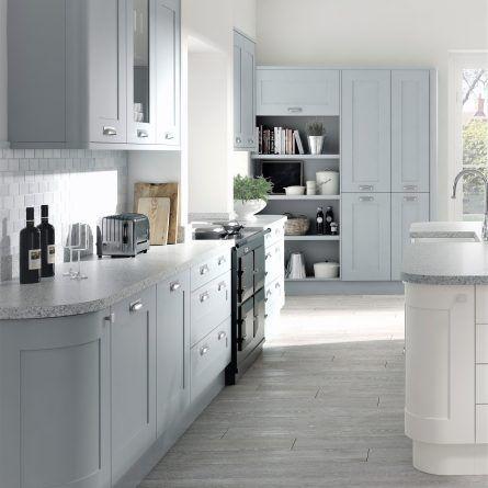 Best Boston Super Dove Grey Shaker Style Kitchen Doors 640 x 480