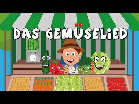"""Das Gemüselied - Kinderlieder zum mitsingen - german vegetable song - Gemüse https://www.youtube.com/watch?v=164cpMx0YIU: Lern Lied, Lernlied, Gemüse lernen, auf die Melodie von """"The wheels on the bus"""", jedes Gemüse stellt sich vor z.B. Ich bin die Tomate rund und rot...., Voschule, Kindergarten, Klasse 1, Alltag, Gesamt 3:25"""