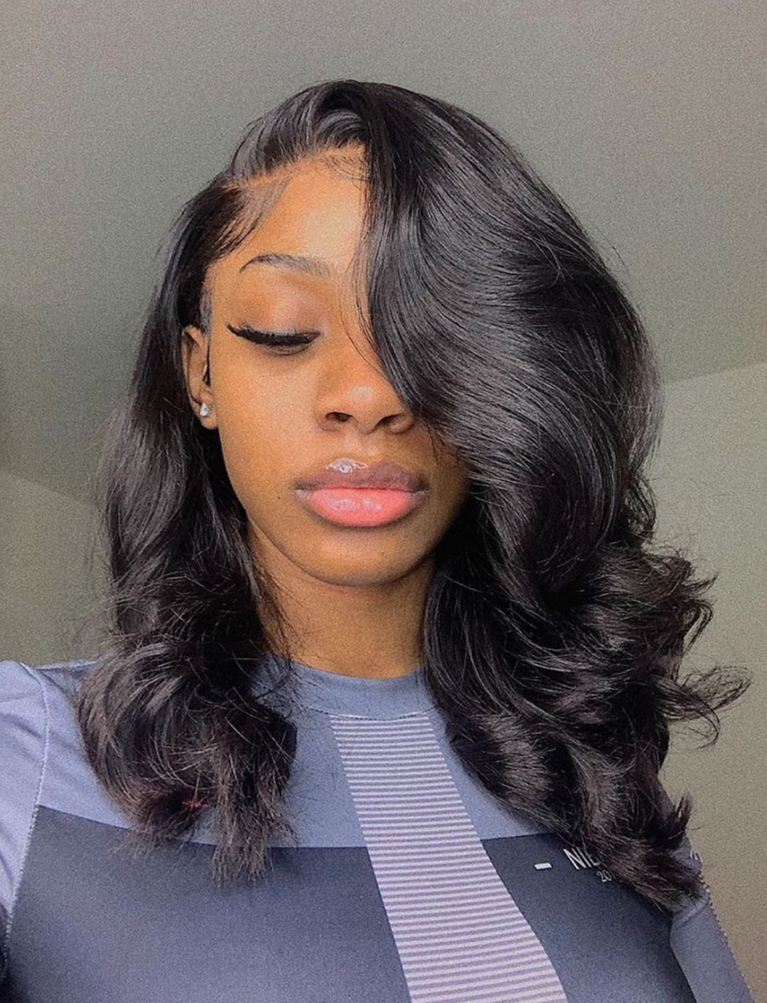Thriving Hair Virgin Human Hair Loose Body Wave Lace Front Wigs With Natural Hairline V36 Front46 In 2020 Loose Hairstyles Hair Waves Medium Hair Styles