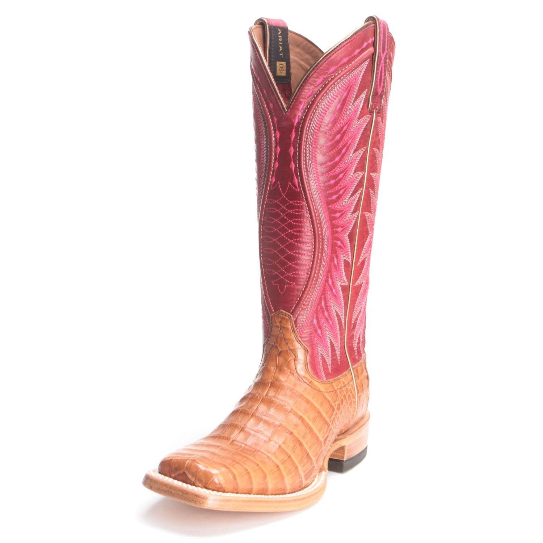 74bc8128efe Ariat Womens Alligator Caiman Vaquera Cowboy Boots Red   sexy boots ...