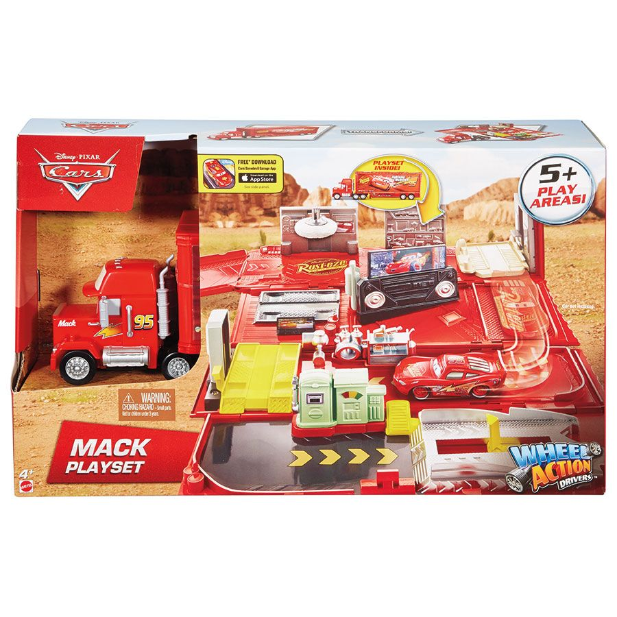 Disney Cars Wheel Action Drivers Mack Playset Toys R Us