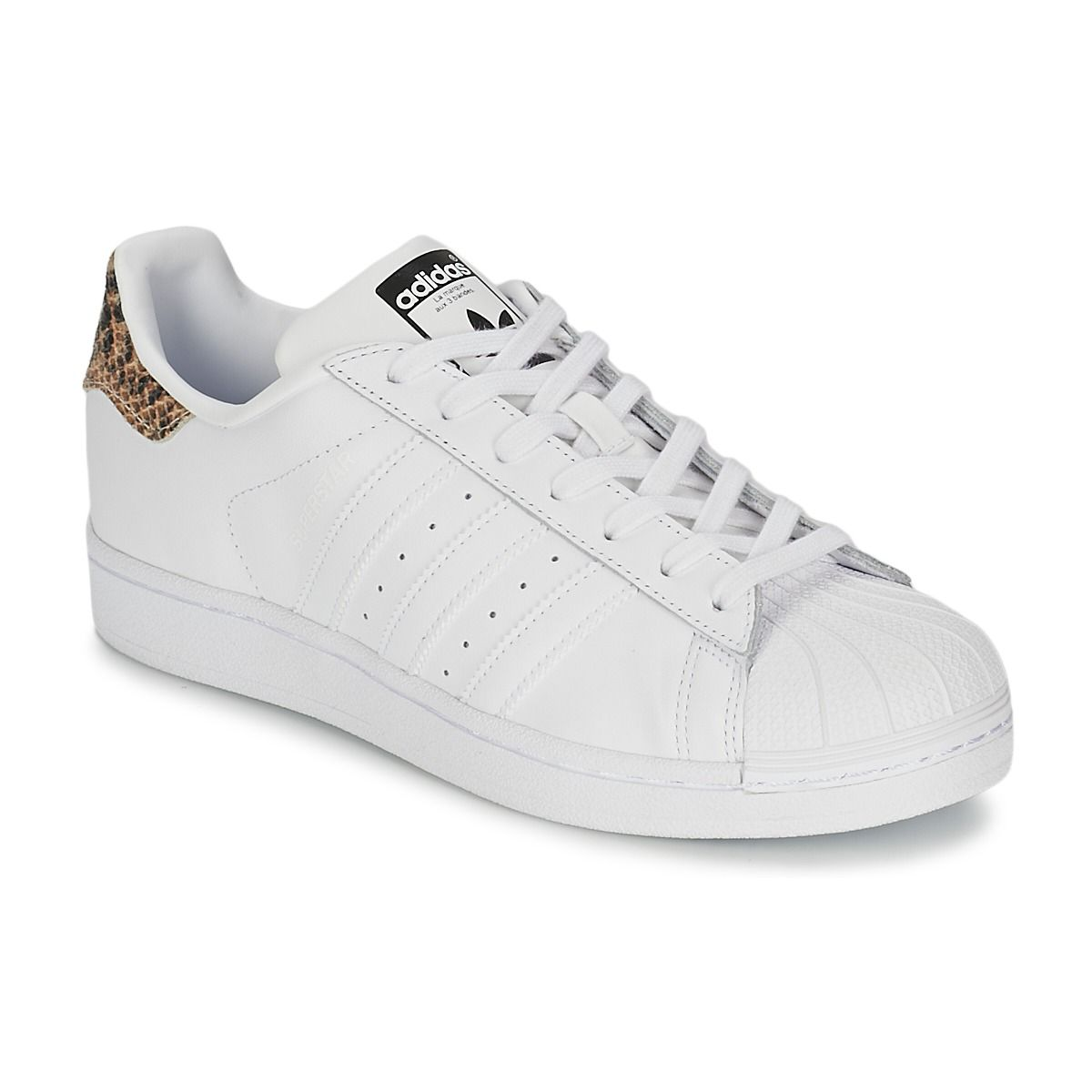 Baskets basses Adidas Originals SUPERSTAR W Blanc prix promo Baskets Femme  Spartoo 89.99 \u20ac