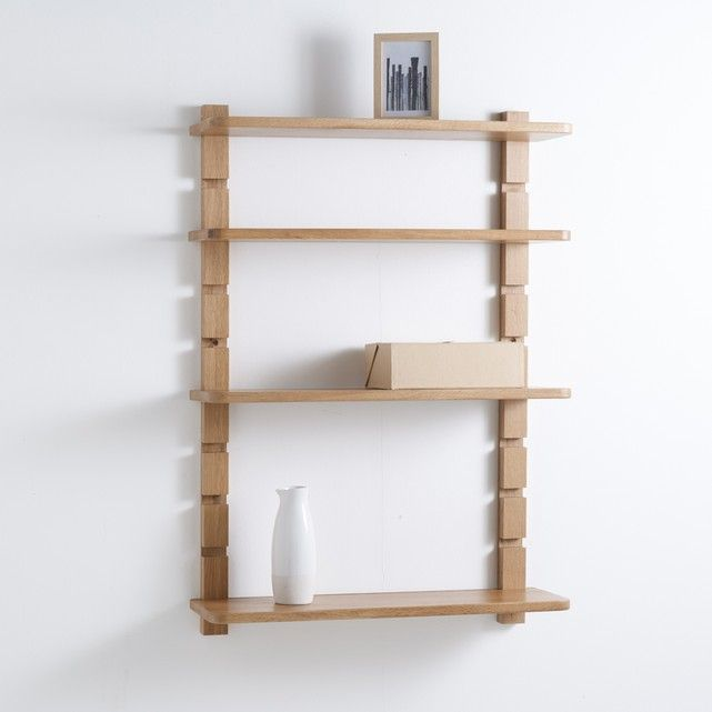 Crueso 4-shelf unit. With 4 removable and height adjustable shelves, the Crueso shelf unit meets all your decorative needs.Crueso 4-shelf unit:Solid oak with a nitrocellulose varnish finish.Removable and height adjustable shelves based on a rack support system.4 shelves, 2 wall mounts.Discover the Crueso collection online.Size of Crueso 4-shelf unit:Overall size:Width: 70cmHeight: 100cmDepth: 21cmWeight: 10.5kgSize and weight of parcel:1 parcelL110x H13.5 x D35.5cm, 13kgDelivered to your…