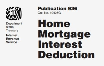 Home Mortgage Interest Deduction Irs Publication 936 In Pdf Mortgage Interest Mortgage Refinance Calculator Home Mortgage