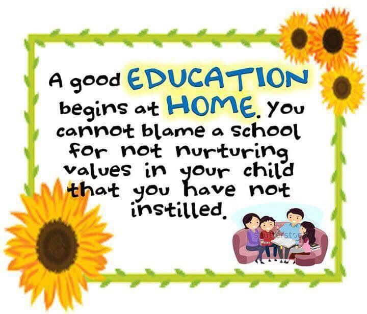 Image result for a good education begins at home