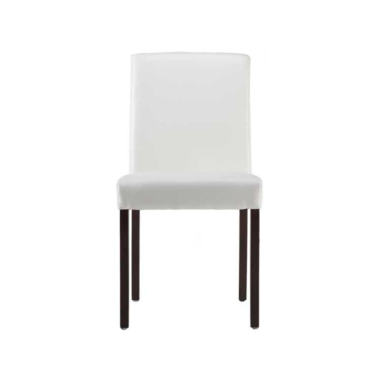 Miraculous Como Dining Chair In White Next Leather Dark Wood Legs Andrewgaddart Wooden Chair Designs For Living Room Andrewgaddartcom
