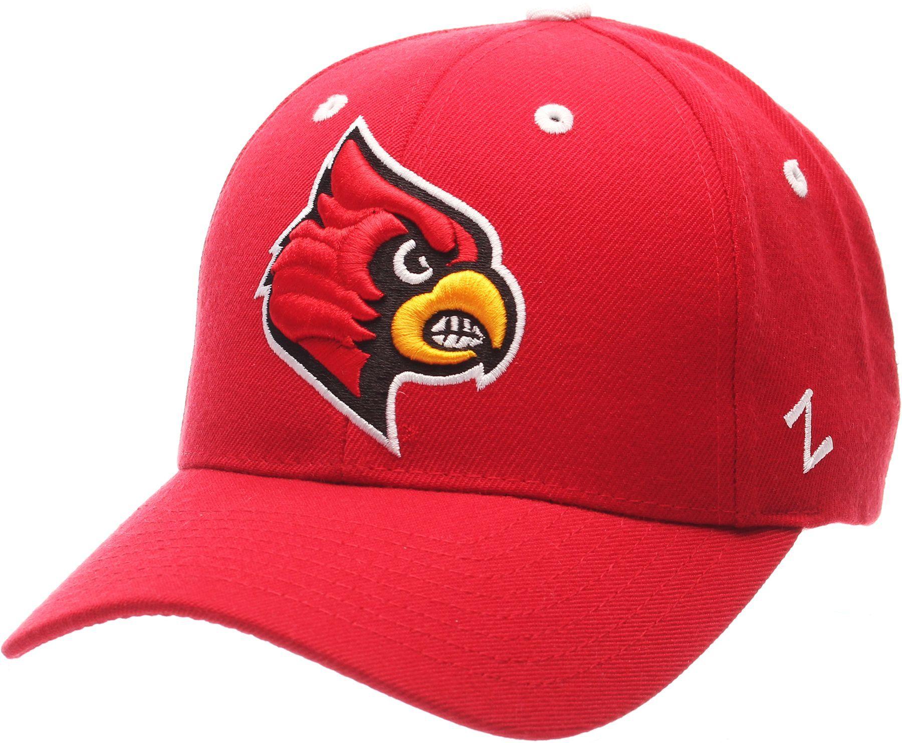 878e4d953d9f3d Zephyr Men's Louisville Cardinals Cardinal Red Competitor Adjustable ...
