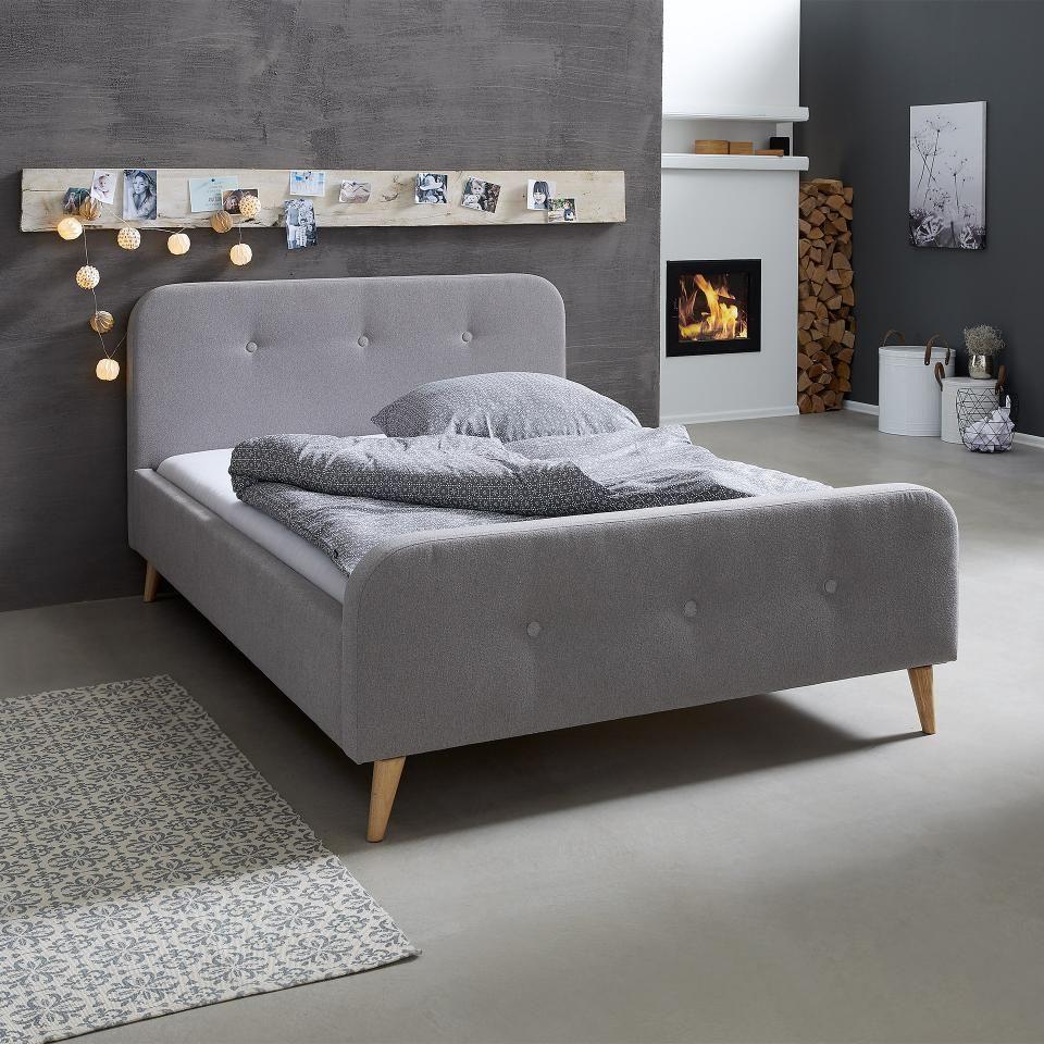 Polsterbett Egedal 140x200 Grau Bett Polsterbett Und Graues Bett
