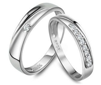 Cheap Couples Promise Rings with CZ Diamonds in 925 Sterling