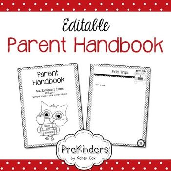 Parent Handbook  Editable  PreKinders Shop  Parent handbook Preschool parent communication