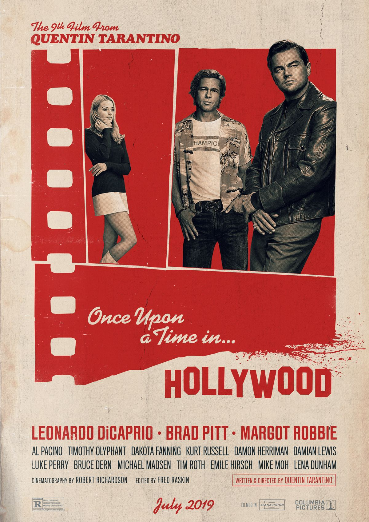 Once Upon A Time In Hollywood 2019 In 2020 Movie Posters Hollywood In Hollywood