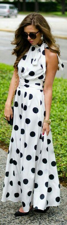 Maxi + polka dots.