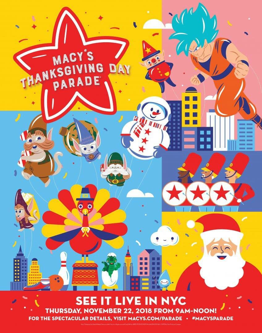 Goku Officially Joins The Macy S Parade Funimation Blog Macys Parade Macy S Thanksgiving Day Parade Thanksgiving Day Parade