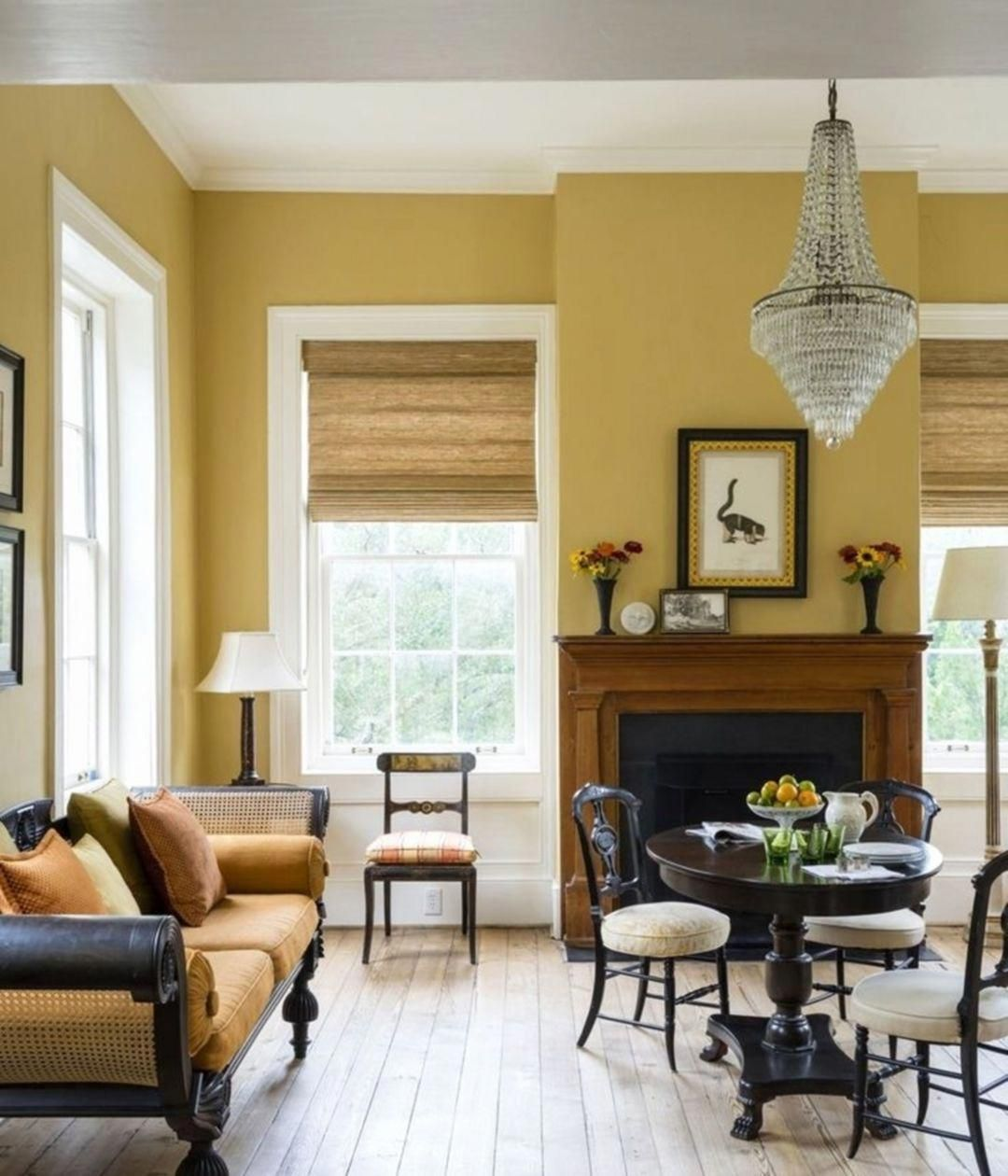 gorgeous yellow living room color schemes 17