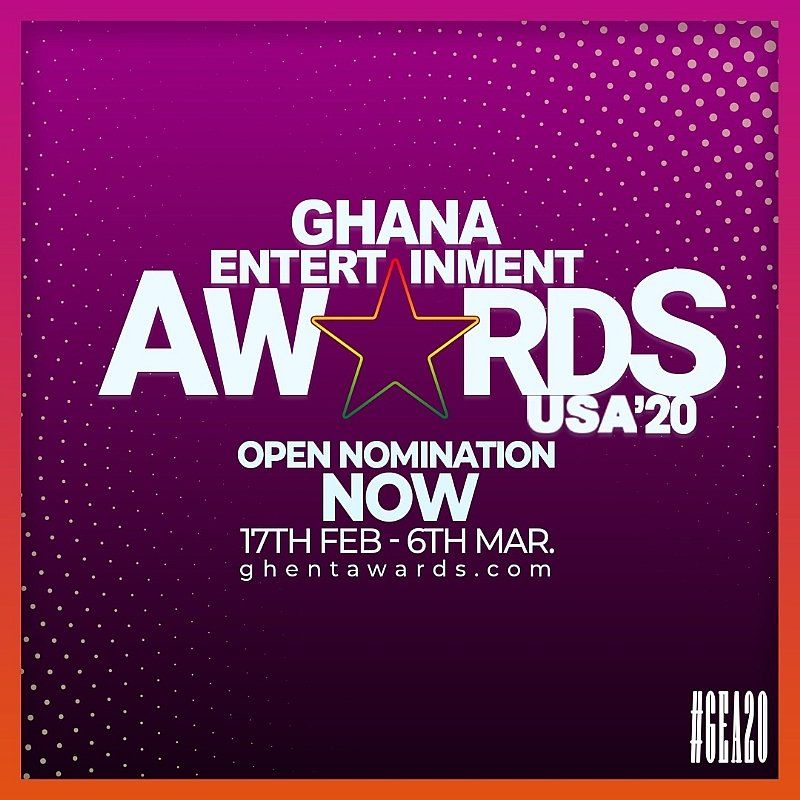 Nominations Open For 2020 Ghana Entertainment Awards USA