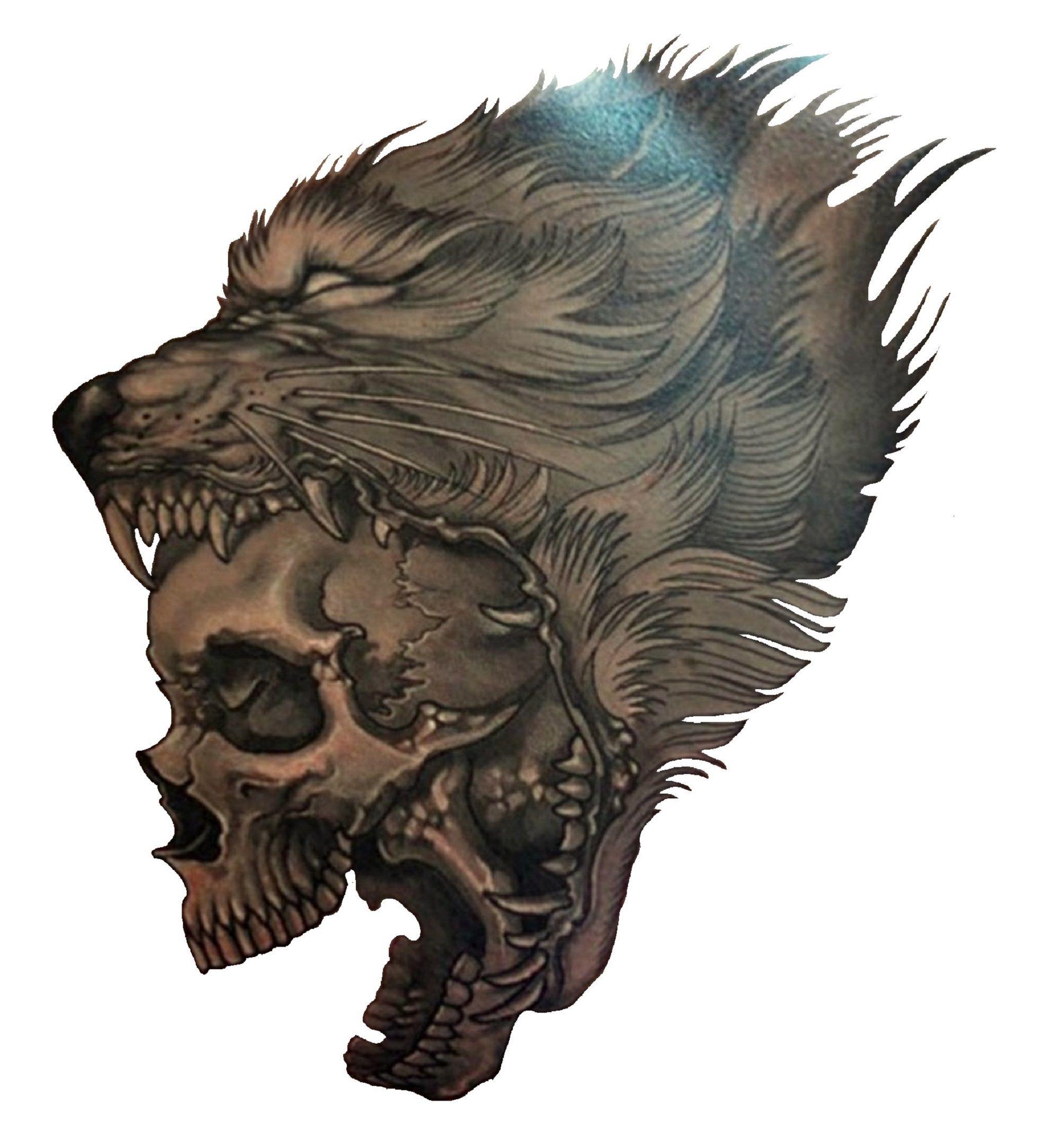 Wolf Skull Tattoo. Http://3d-tattoodesign.com/hd-wolf