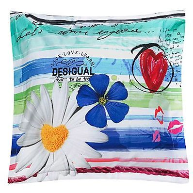 Federe Cuscini Desigual.Federa Cuscino Blue Summer 65x65 Cm Pillowcase Pattern Striped