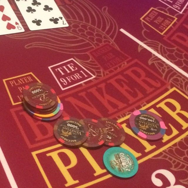 140k a hand at baccarat will wake you up in the morning #Firing