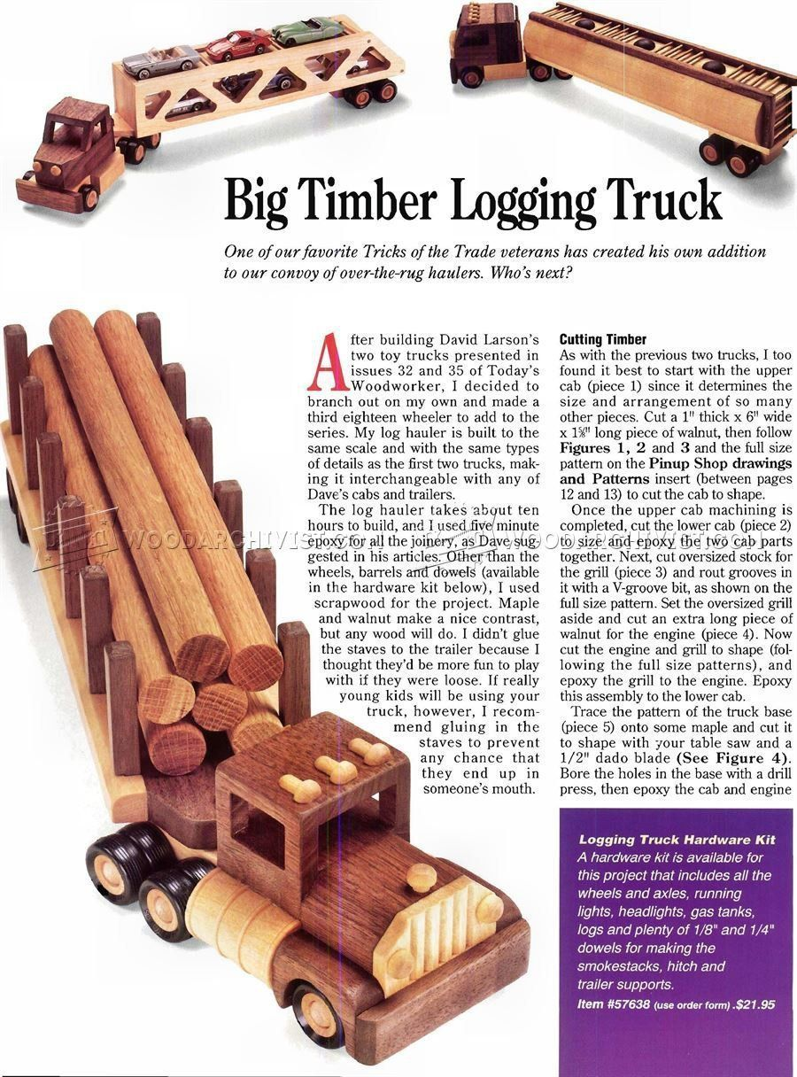 wooden logging truck plans - wooden toy plans