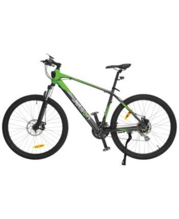 Jetson Adventure Electric Bike Green Cafe Racer Design