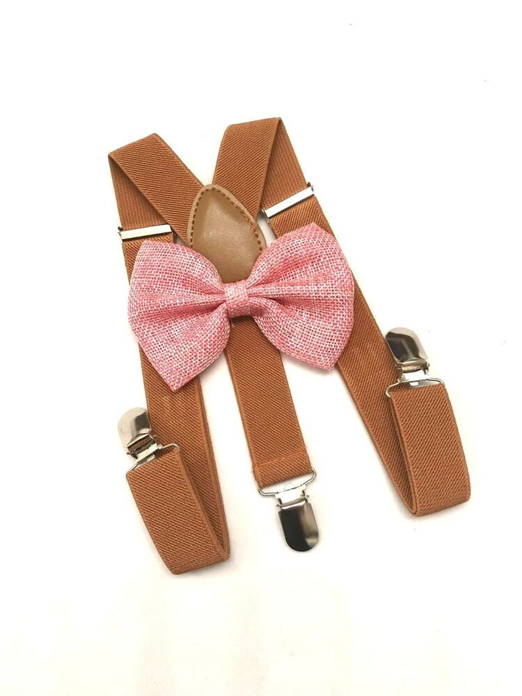858947826884 Pink Suspender Bow Tie Set for Baby Toddler Kids Boys Girls Children 0-5  Years #MiraclesareMagic