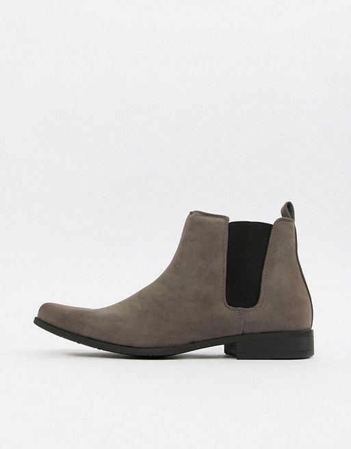 b24faaca85d DESIGN chelsea boots in gray faux suede in 2019 | Kurt Style ...