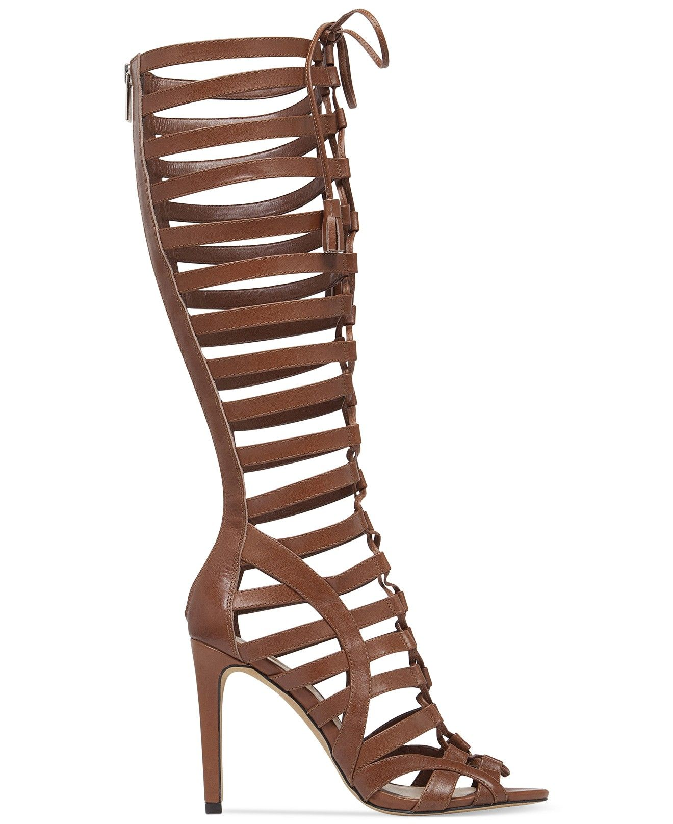 742e309af077 Vince Camuto Olivian Tall Lace-Up Gladiator Sandals - Shoes - Macy s ...