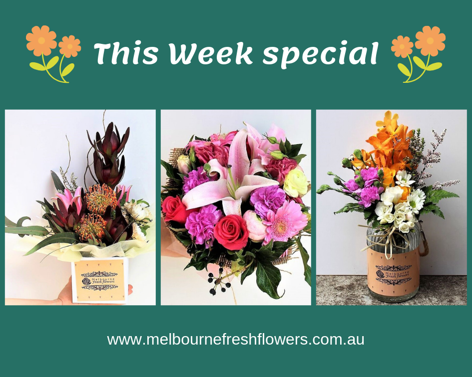 This week's special flower arrangements! Comment and tell